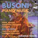 Ferruccio Busoni: Piano Music