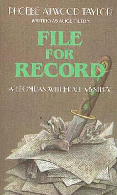 File for Record - Taylor, Phoebe Atwood