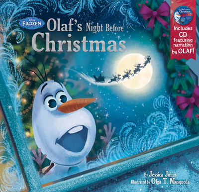 Frozen Olaf's Night Before Christmas Book & CD - Disney Book Group