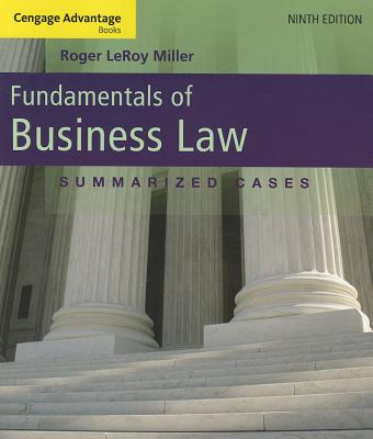 Fundamentals of Business Law: Summarized Cases - Miller, Roger LeRoy