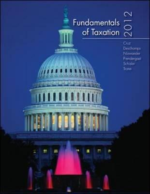 Fundamentals of Taxation - Cruz, Ana, and Deschamps, Michael, and Niswander, Frederick