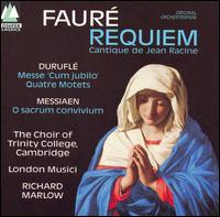 Gabriel Fauré: Requiem; Cantique de Jean Racine; Maurice Duruflé: Messe Cum Jubilo; Quatre Motets - Briony Shaw (violin); Camilla Otaki (soprano); Mark Griffiths (baritone); Richard Pearce (organ);...