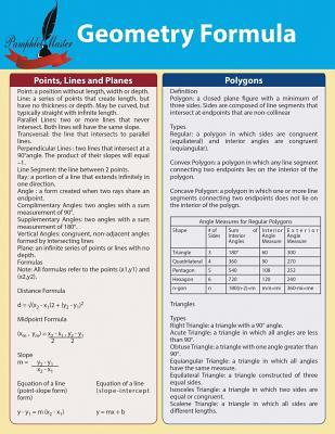 Geometry Formula - Master, Pamphlet