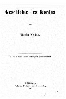 Geschichte Des Qorans - Noldeke, Theodor