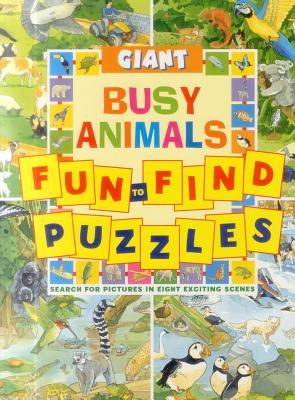 Giant Fun-to-Find Puzzles Busy Animals -