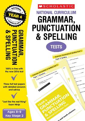 Grammar, Punctuation and Spelling Test - Year 4: Year 4 - Casey, Catherine