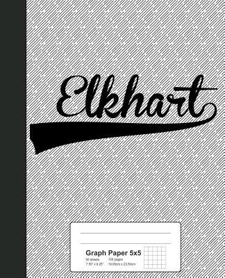 Graph Paper 5x5: ELKHART Notebook - Weezag