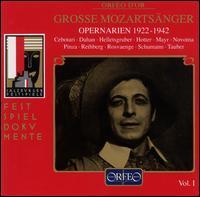 Great Mozart Singers, Vol. 1: Opera Arias 1922-1942 - Alexander Kipnis (vocals); Elisabeth Rethberg (vocals); Elisabeth Schumann (vocals); Erich Kunz (vocals);...