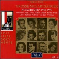 Great Mozart Singers, Vol. 4: Concert Arias 1956-70 - Camerata Academica Wurzburg; Edith Mathis (soprano); Erika Köth (soprano); Geraint Evans (bass); Giorgio Tozzi (bass);...