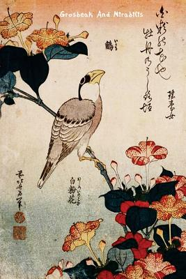 """Grosbeak and Mirabilis: Katsushika Hokusai - """"6x 9"""" Lined Notebook-Work Book, Planner, Journal, Diary 100 Pages - Perfect Gift Notebook"""