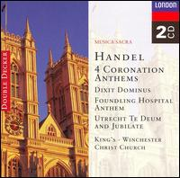 Handel: 4 Coronation Anthems - Ann Mackay (soprano); Charles Brett (counter tenor); Charles Tunnell (cello); David Thomas (bass); Emma Kirkby (soprano);...