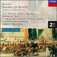 Handel: Israel in Egypt; Chandos Anthem No. 10 - Alan Watt (bass); Andrew Davis (organ); April Cantelo (soprano); Elizabeth Gale (soprano);...