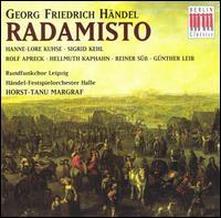 Handel: Radamisto - Günther Leib (baritone); Hanne-Lore Kuhse (soprano); Hellmuth Kaphahn (bass); Reiner Süss (bass);...