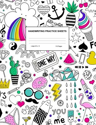 Handwriting Practice Sheets: Cute Blank Lined Paper Notebook for Writing Exercise and Cursive Worksheets - Perfect Workbook for Preschool, Kindergarten, 1st, 2nd, 3rd and 4th Grade Kids - Product Code A4 3426 - Porter, Katrina