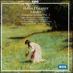 Hans Pfitzner: Lieder, Complete Edition, Vol.3