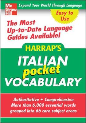 Harrap's Italian Pocket Vocabulary - Harrap's Publishing (Creator)
