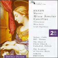 Haydn: Masses - Academy of Ancient Music; Carolyn Watkinson (contralto); Christopher Hogwood (organ); David Thomas (bass);...