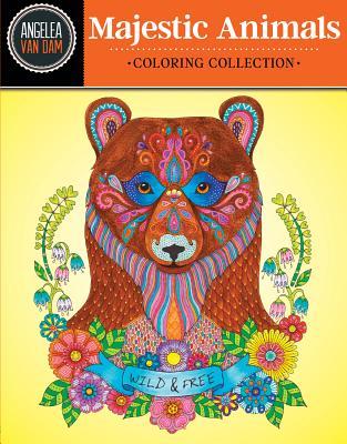 Hello Angel Majestic Animals Coloring Collection - Van Dam, Angelea