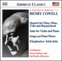 Henry Cowell: Instrumental, Chamber and Vocal Music, Vol. 1 - Cheryl Seltzer (piano); Continuum; Ellen Lang (mezzo-soprano); Joel Sachs (piano); Mia Wu (violin); Joel Sachs (conductor)