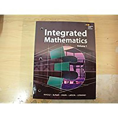 Hmh Integrated Math 3: Interactive Student Edition Volume 1 (Consumable) 2015 - Houghton Mifflin Harcourt (Prepared for publication by)