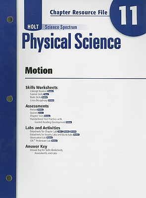 Holt Science Spectrum Physical Science Chapter 11 Resource File: Motion - Holt Rinehart & Winston (Creator)