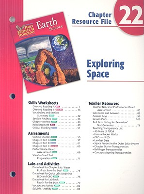 Holt Science & Technology Earth Science Chapter 22 Resource File: Exploring Space - Holt Rinehart & Winston (Creator)
