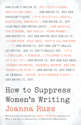 How to Suppress Women's Writing - Russ, Joanna, and Crispin, Jessa (Foreword by)