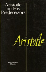 Aristotle on His Predecessors