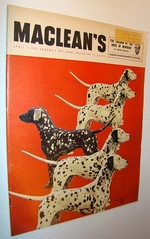 Maclean's Magazine, April 1, 1953-Dalmations on Cover / Joseph Howe