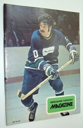 Vancouver Canucks Magazine, January 15, 1974-Colour Cover Photo of Dennis Ververgaert