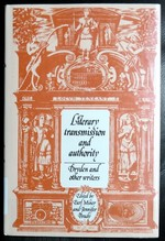 Literary Transmission and Authority: Dryden and Other Writers (Cambridge Studies in Eighteenth-Century English Literature and Thought)