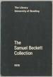The Samuel Beckett Collection: a Catalogue