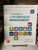 Essentials of Contemporary Management (Eighth Edition)