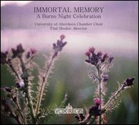 Immortal Memory: A Burns Night Celebration - Dermot O'Connor (baritone); Eilidh Thomson (soprano); Ian Christie (percussion); Ian Christie (bodhran);...