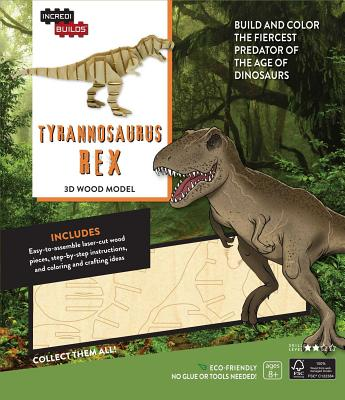 Incredibuilds: Tyrannosaurus Rex 3D Wood Model - Insight Editions (Creator)