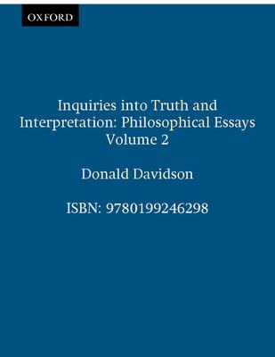 Inquiries Into Truth and Interpretation - Davidson, Donald