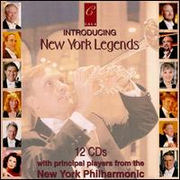 Introducing New York Legends - Christian Jaudes (trumpet); Christopher Lamb (percussion); Cynthia Phelps (viola); David Taylor (trombone);...