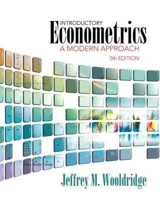 introductory econometrics wooldridge Practical and professional, wooldridge's introductory econometrics: a  modern approach, 4e bridges the gap between how.