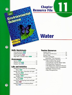 Holt Environmental Science Chapter 11 Resource File: Water - Arms, Karen