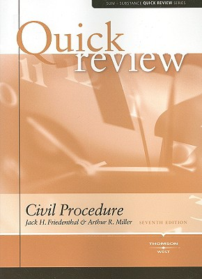 Civil Procedure - Friedenthal, Jack H, and Miller, Arthur R