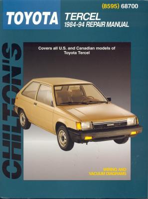 Toyota Tercel, 1984-94 - Chilton Automotive Books, and The Nichols/Chilton, and Chilton