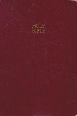 Budget Holy Bible: King James Version Giant Print (Burgundy) - Thomas Nelson Publishers
