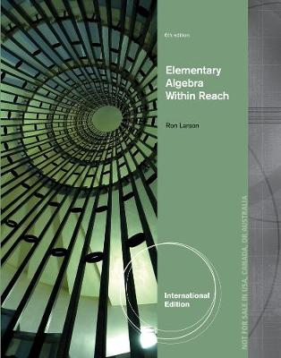 Elementary Algebra - Larson, Ron
