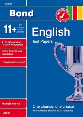 Bond 11+ Test Papers English Multiple Choice Pack 2 - Lindsay, Sarah