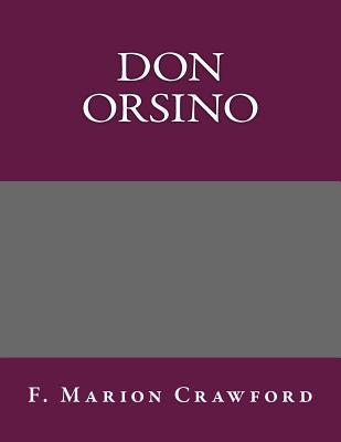 Don Orsino - F Marion Crawford