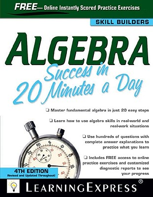 Algebra Success in 20 Minutes a Day - Learning Express LLC