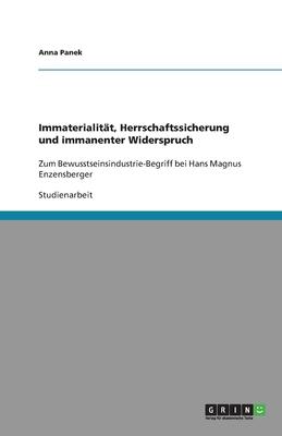 Immaterialit T, Herrschaftssicherung Und Immanenter Widerspruch - Panek, Anna