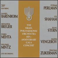 Israel Philharmonic Orchestra: 60th Anniversay Gala Concert - Ariel Shamai (violin); Gil Shaham (violin); Isaac Stern (violin); Israel Kastoriano (continuo); Itzhak Perlman (violin);...