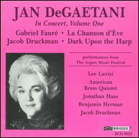 Jan DeGaetani in Concert, Vol. 1 - American Brass Quintet; Benjamin Herman (percussion); Christopher Gekker (trumpet); David Wakefield (horn);...