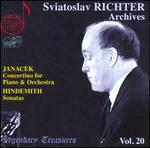 Janacek: Concertino for Piano and Orchestra; Hindemith: Sonatas